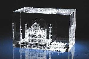 india mosque 3d laser crystal