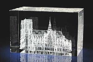 notr dam de pairs 3d laser crystal