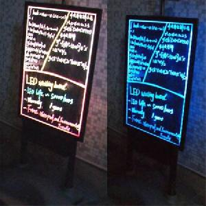 side led writing board