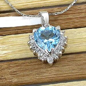 factory sterling silver blue topaz pendant earring jewelry 18k gold