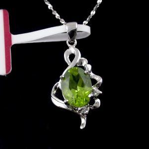 factory sterling silver olivine pendant sapphire earring jadeite ring citrine