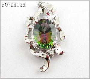 factory sterling silver rainbow pendant earring bracelet jewelry citrine ring