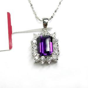 sterling silver amethyst pendant beacelet olivine ring genstone jewelry