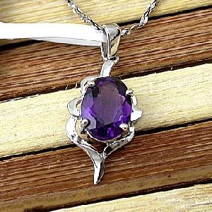 sterling silver amethyst pendant gemstone jewelry fashion