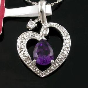 sterling silver amethyst pendant olivine ring jewelry stone