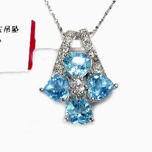 sterling silver blue topaz pendant earring citrine ring jadeite bracelet