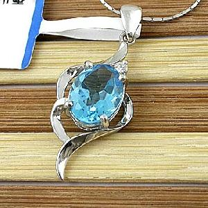 sterling silver blue topaz pendant earring ring amethyst sapphire