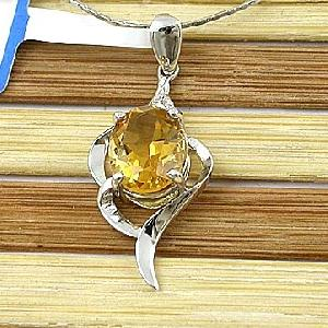 sterling silver citrine pendant olivine sapphire ring jewelry 18k gold jewe