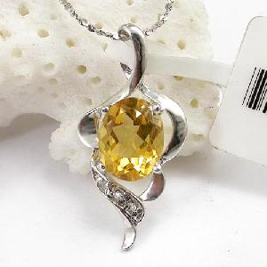sterling silver citrine pendant ruby ring amethyst sapphire jewelry