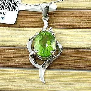 sterling silver olivine pendant moonstone ring jewelry 18k gold