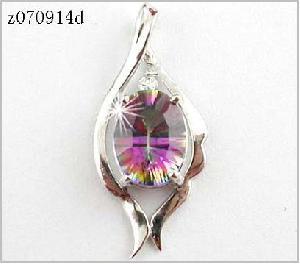 sterling silver rainbow pendant olivine ring tourmaline earring beacelet ruby