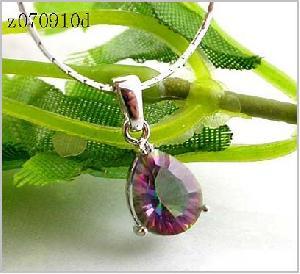 sterling silver rainbow pendant jewelry ring ruby bracelet earring