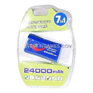 24000mah external rechargeable usb battery pack psp nds ds lite gba mp3 mp4 pda