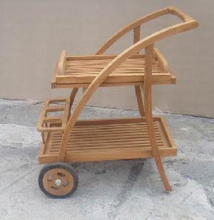 ate 21 teak curve trolley tea table teka teck garden outdoor furniture