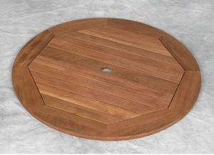 atm 2a teka lazy susan round wooden teak teck garden furniture