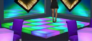 dance arena building led floor staging dancing mosaic stage