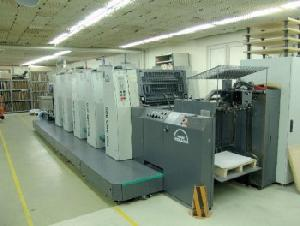 2003 roland 305p five colour offset machine impressons