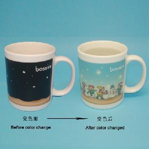 promotional ceramic changing mugs