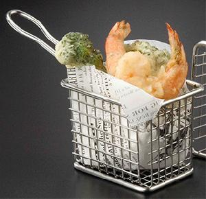 rectangular stainless steel mini fry basket