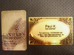 metal card vip silver golden