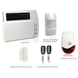 wireless burglar home security systems sound light strobe siren
