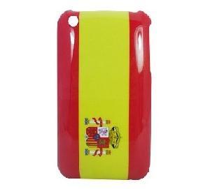 spain flag hard skin iphone case