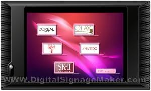 digital signage player touch screen