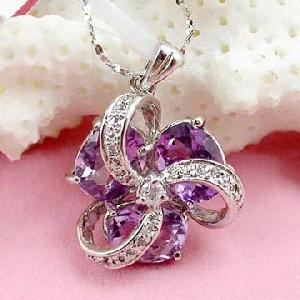 sterling silver amethyst pendant jewelry olivine ruby bracelet earring rin