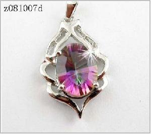 sterling silver rainbow pendant moonstone earring bracelet tourmaline ring