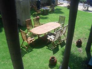 curve horisontal slats reclining outdoor garden patio teak teka furniture bali indonesia