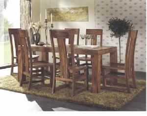 Ndf 019 Bali Colonial Dining Table Chair Teak Mahogany Wooden Furniture