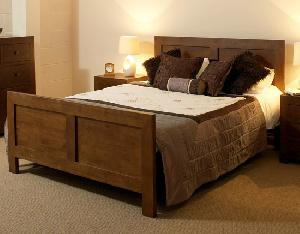 tampica bed bedroom hotel room apartment teak mahogany wooden indoor furniture