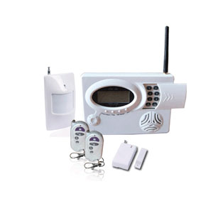wireless home alarm system protecting