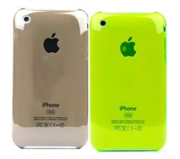 apple iphone 3gs 3g clear crystal case green grown