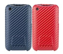 carbon fiber flip hard case cover iphone 3gs 3g blue