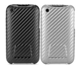 carbon fiber flip hard case cover iphone 3gs 3g silver