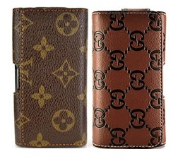 chain pattern wallet magnetic flip texture soft leather case iphone 3gs 3g