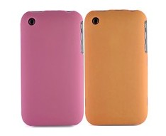 crystal case cover screen protector frame orange pink