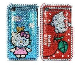 hello kitty diamond rhinestone bling hard case apple iphone 3gs 3g