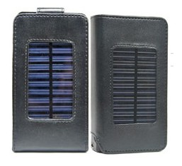 solar charger leather case cover iphone