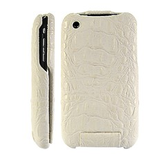 textured crocodile leather flip case cover iphone 3gs 3g