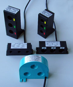 miniature current transformers \ 3 phase motor protection relay