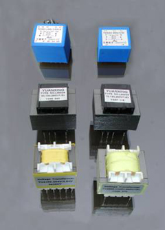 miniature voltage transformers \ laminated pcb mounting