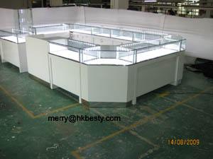 electric glass jewelry display