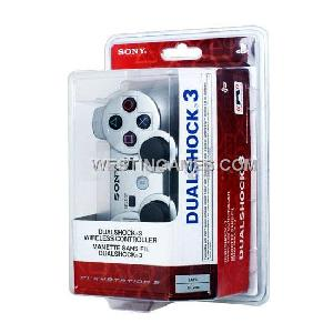 dualshock 3 wireless bluetooth sixaxis controller silver ps3