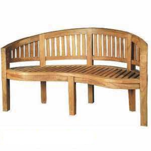 atb 0029 teak jepara banana peanut benches seater teka garden outdoor furniture