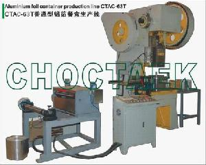 aluminum foil container machine ctac 63t