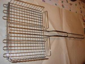 stainless steel wire square grill basket