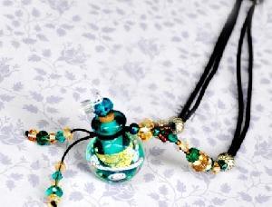 murano glass essence oil bottles necklace