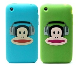 apple iphone paul frank earphone silicone case